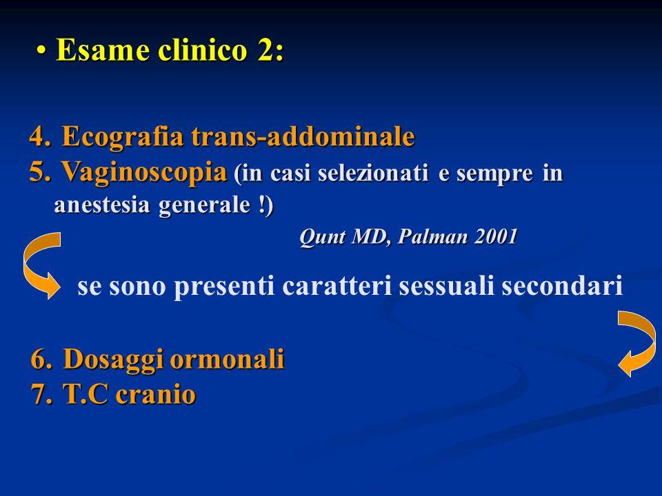 Esame clinico 2: Ecografia trans-addominale