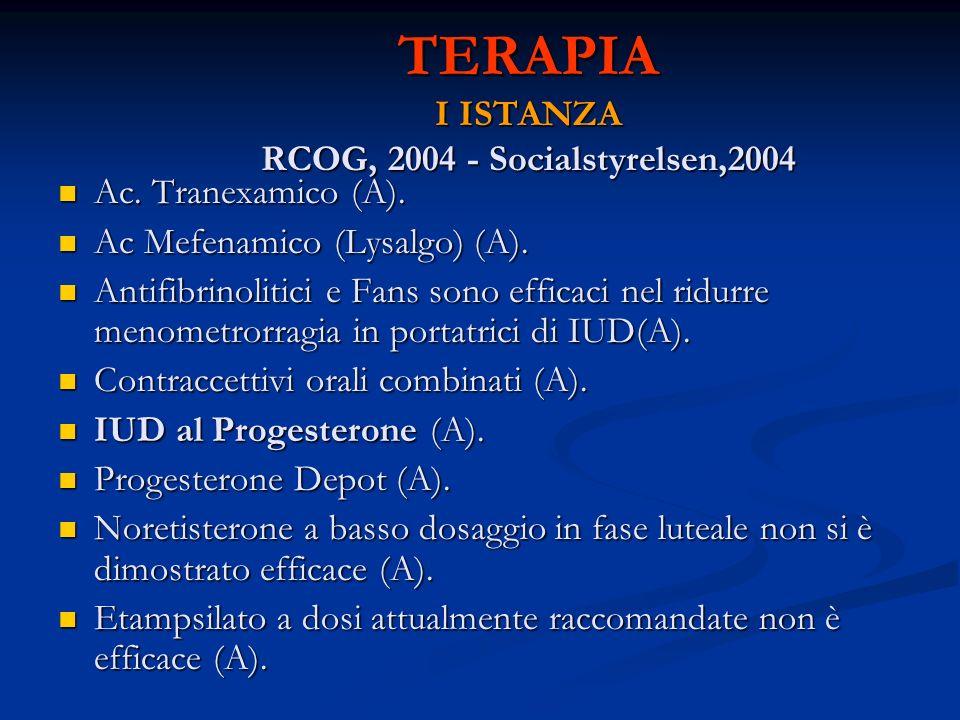 TERAPIA I ISTANZA RCOG, 2004 - Socialstyrelsen,2004