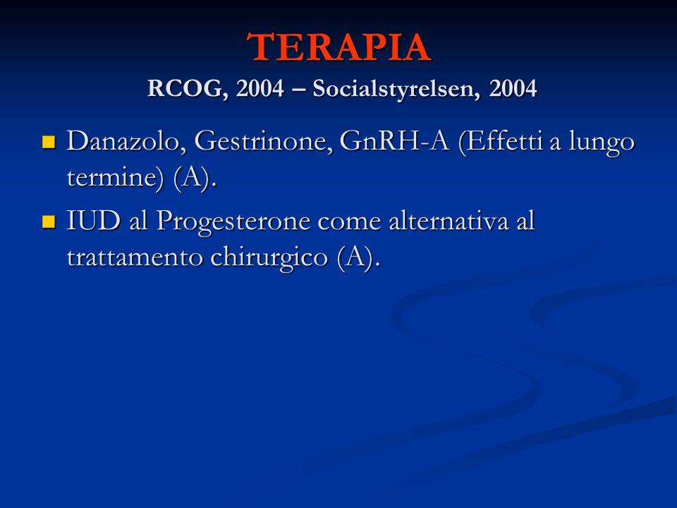 TERAPIA RCOG, 2004 – Socialstyrelsen, 2004