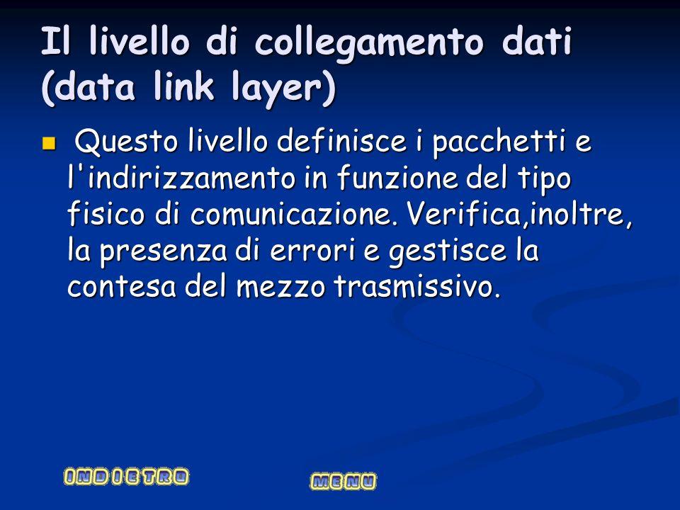 Il livello di collegamento dati (data link layer)