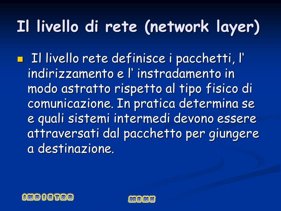 Il livello di rete (network layer)