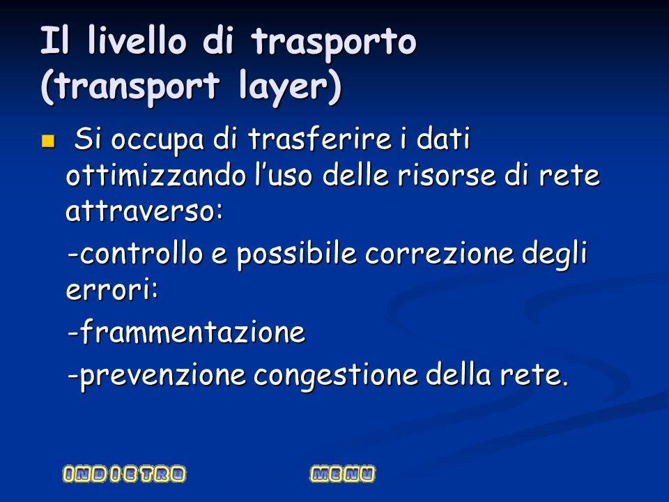 Il livello di trasporto (transport layer)