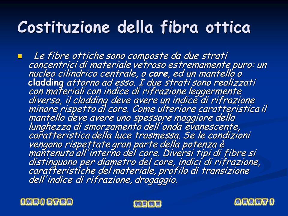 Costituzione della fibra ottica