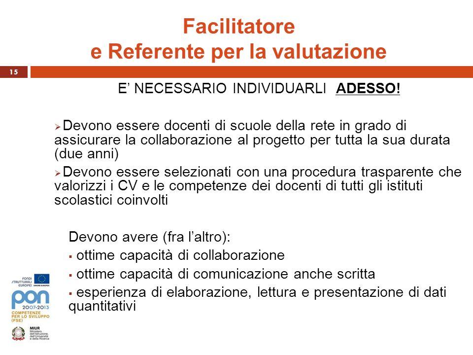 Facilitatore e Referente per la valutazione