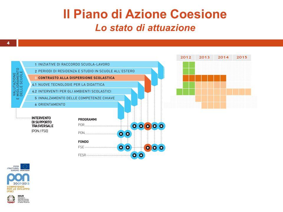 Il Piano di Azione Coesione Lo stato di attuazione
