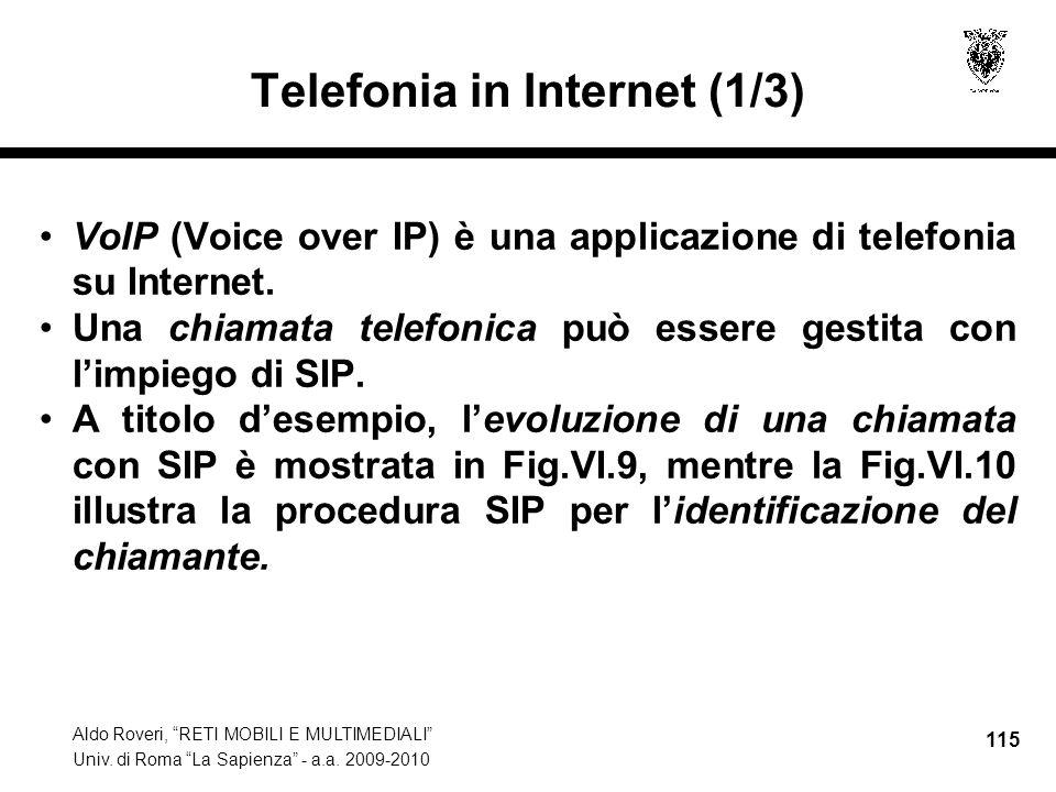 Telefonia in Internet (1/3)