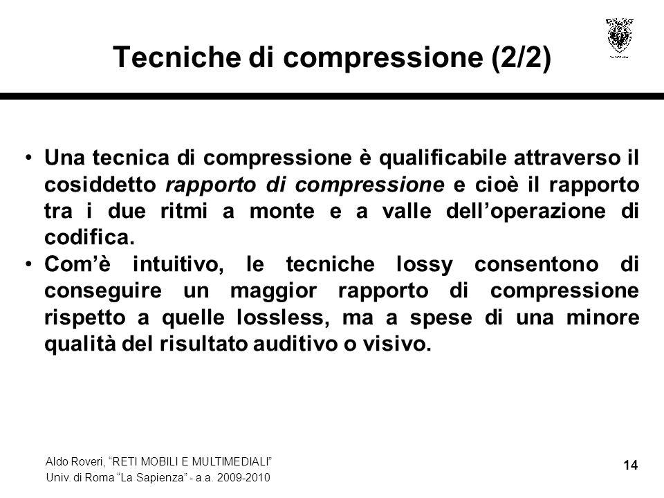 Tecniche di compressione (2/2)