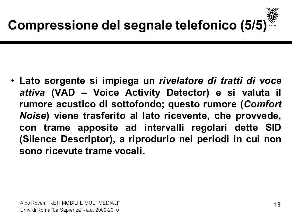 Compressione del segnale telefonico (5/5)