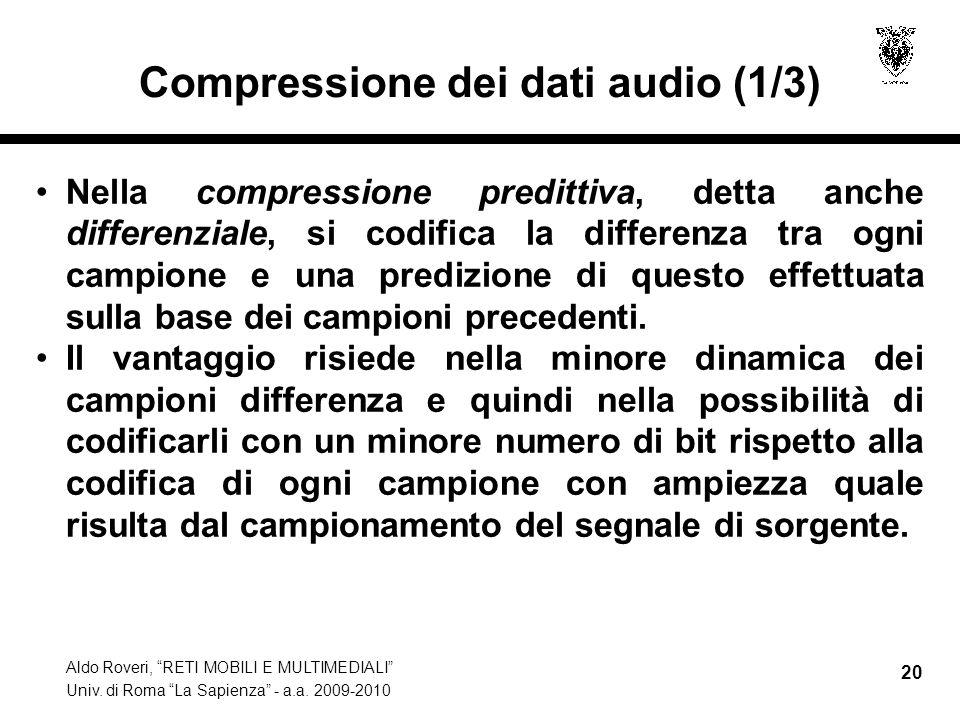 Compressione dei dati audio (1/3)