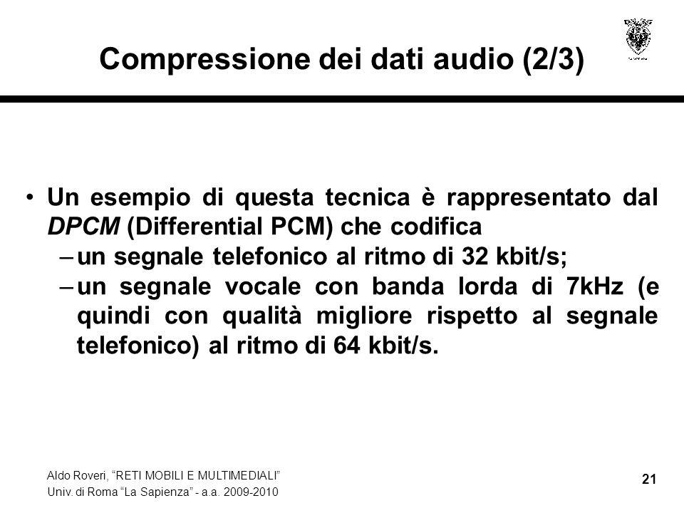 Compressione dei dati audio (2/3)