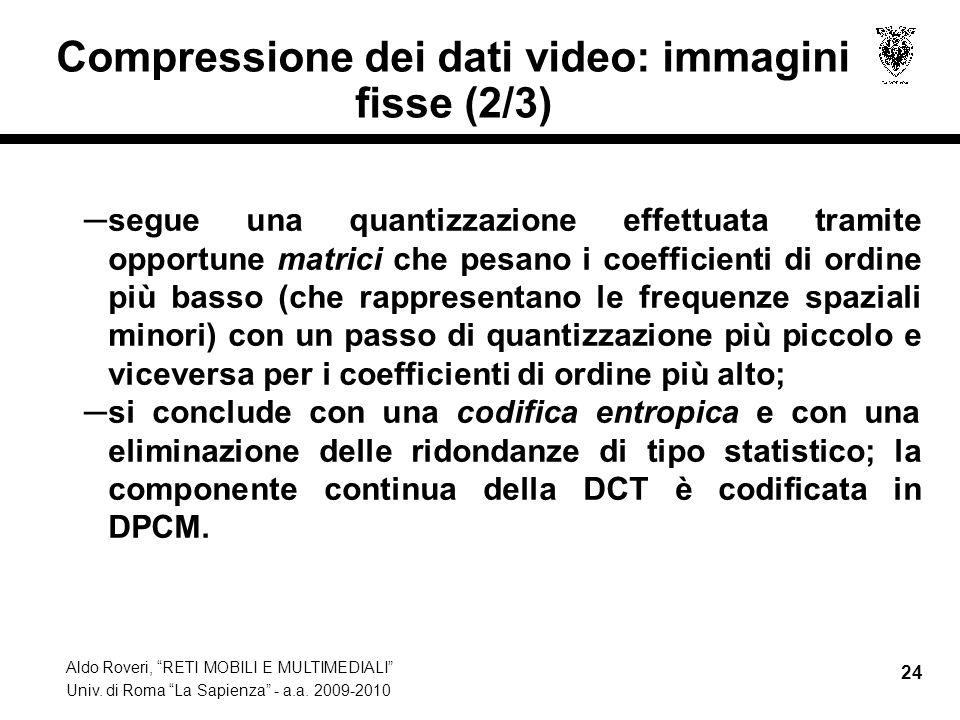 Compressione dei dati video: immagini fisse (2/3)