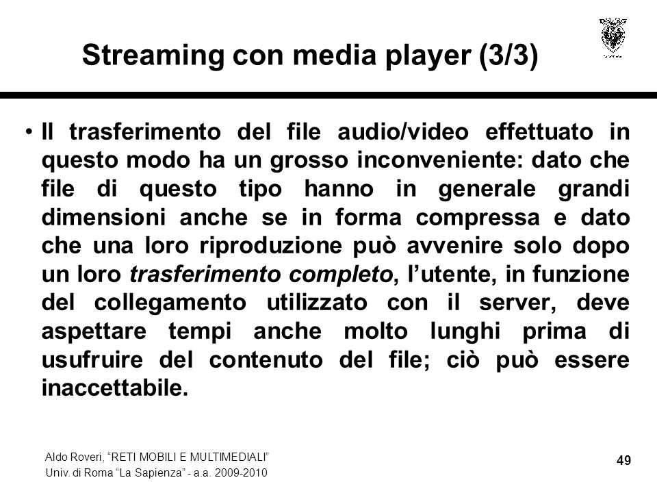 Streaming con media player (3/3)