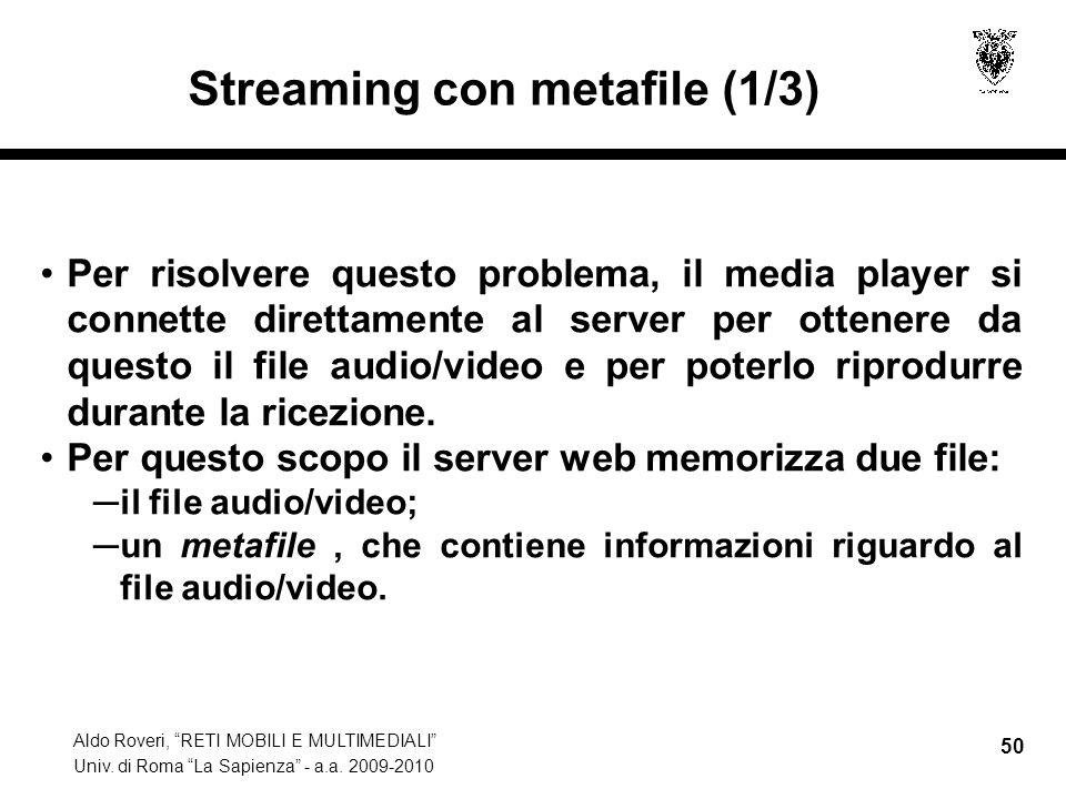 Streaming con metafile (1/3)