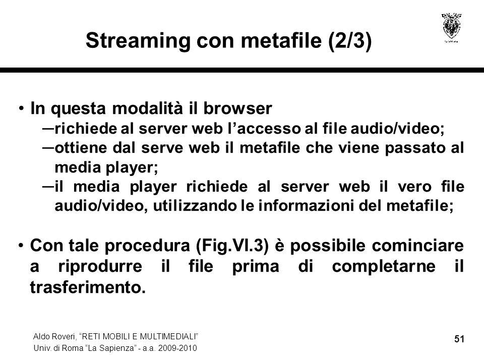 Streaming con metafile (2/3)