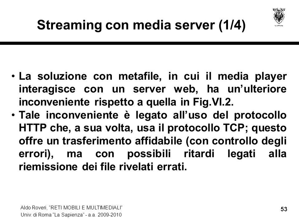 Streaming con media server (1/4)