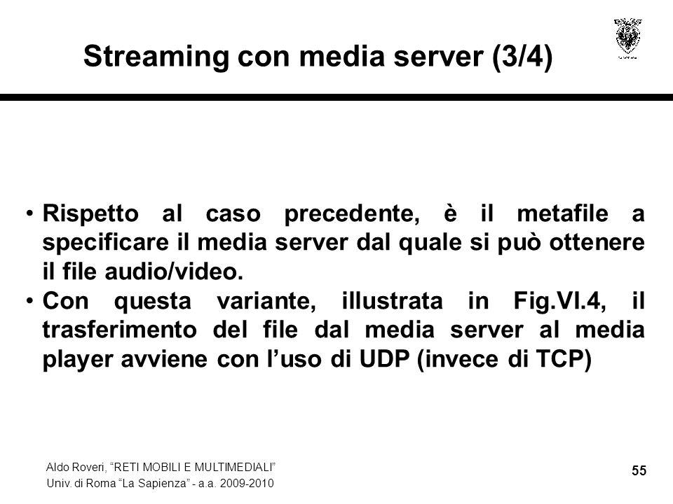 Streaming con media server (3/4)