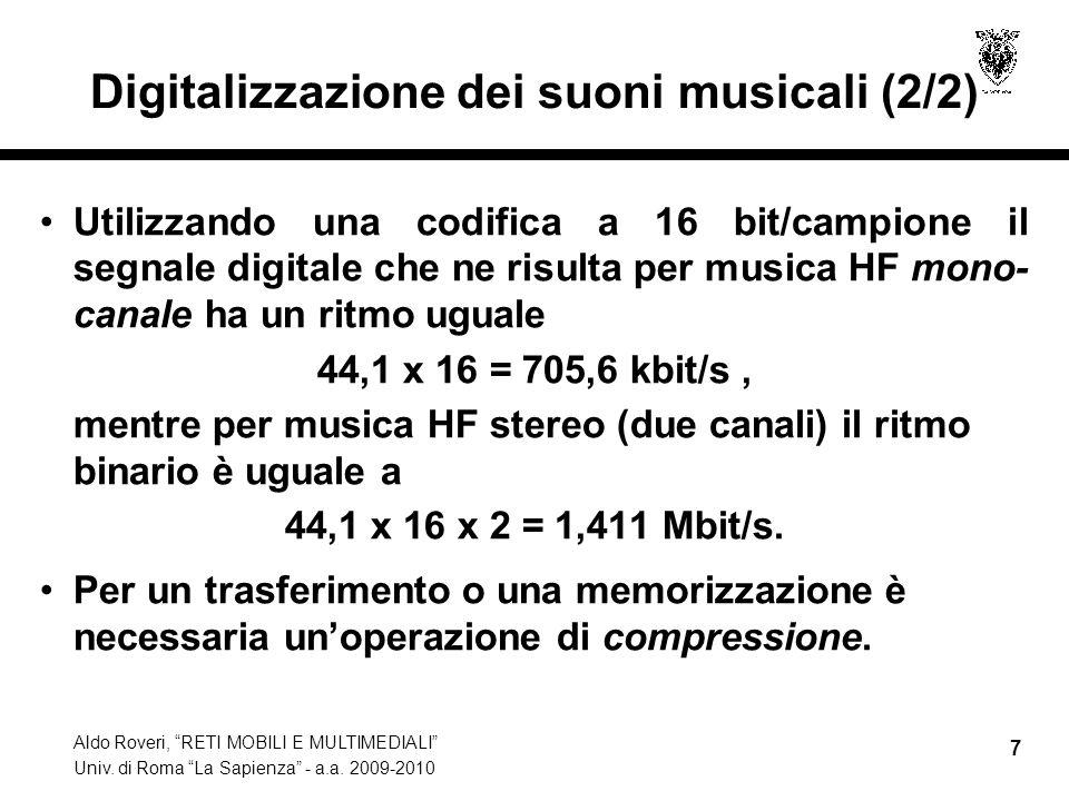 Digitalizzazione dei suoni musicali (2/2)