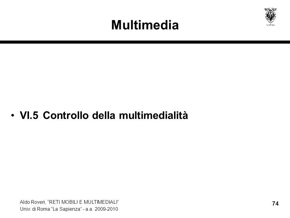 Multimedia VI.5 Controllo della multimedialità