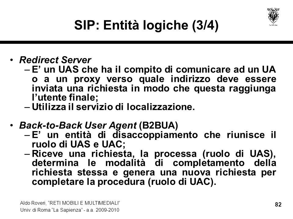 SIP: Entità logiche (3/4)