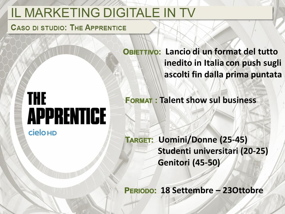 IL MARKETING DIGITALE IN TV