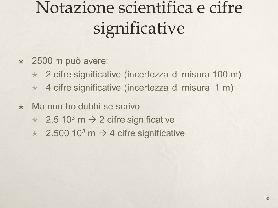 Notazione scientifica e cifre significative