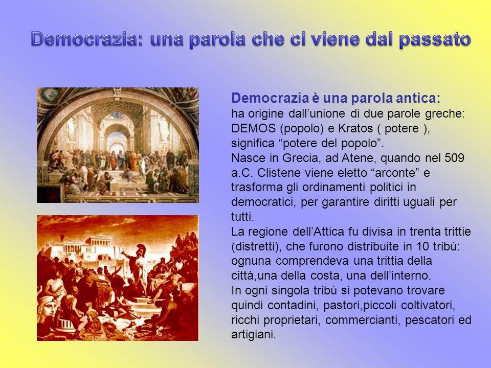 Democrazia: una parola che ci viene dal passato