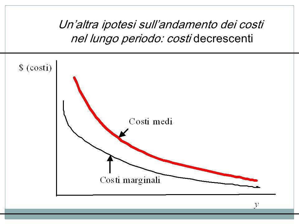 Un'altra ipotesi sull'andamento dei costi