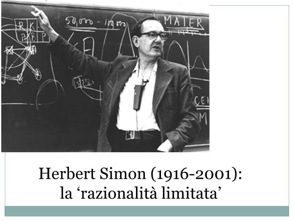 la 'razionalità limitata'