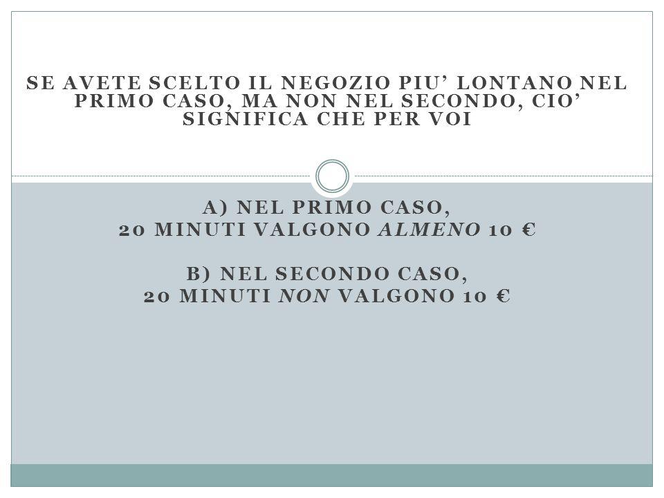 20 minuti valgono almeno 10 €
