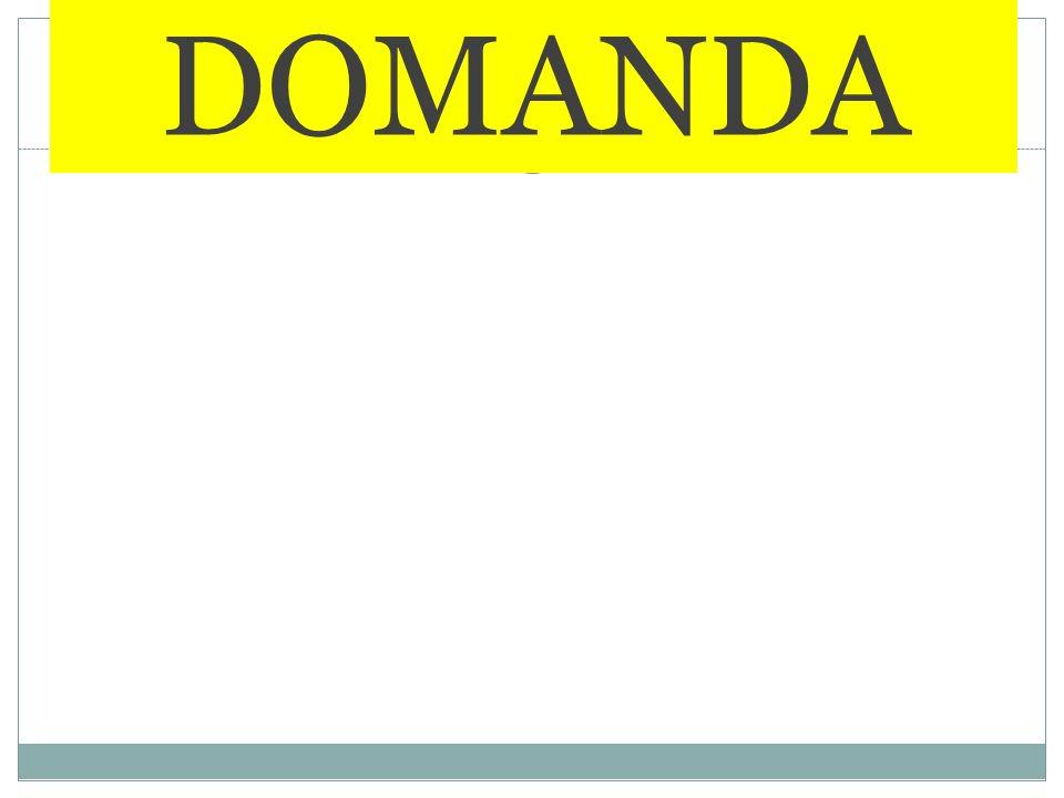 DOMANDA