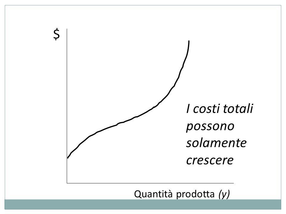 I costi totali possono solamente crescere