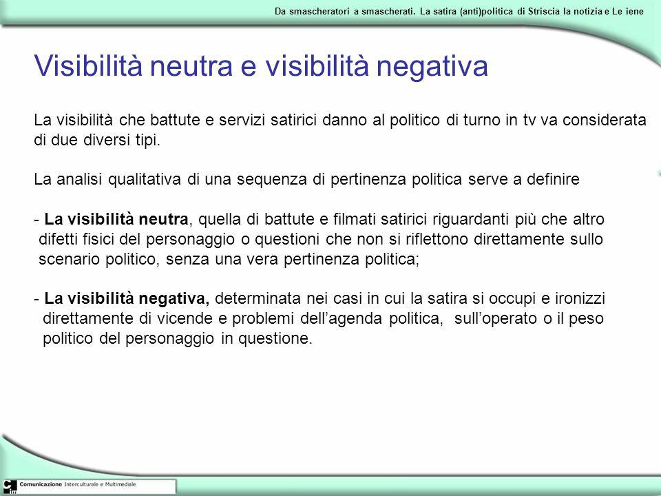 Visibilità neutra e visibilità negativa