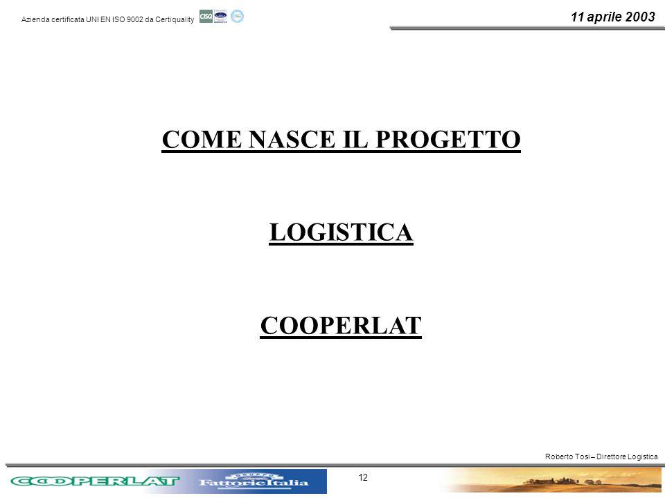 COME NASCE IL PROGETTO LOGISTICA COOPERLAT