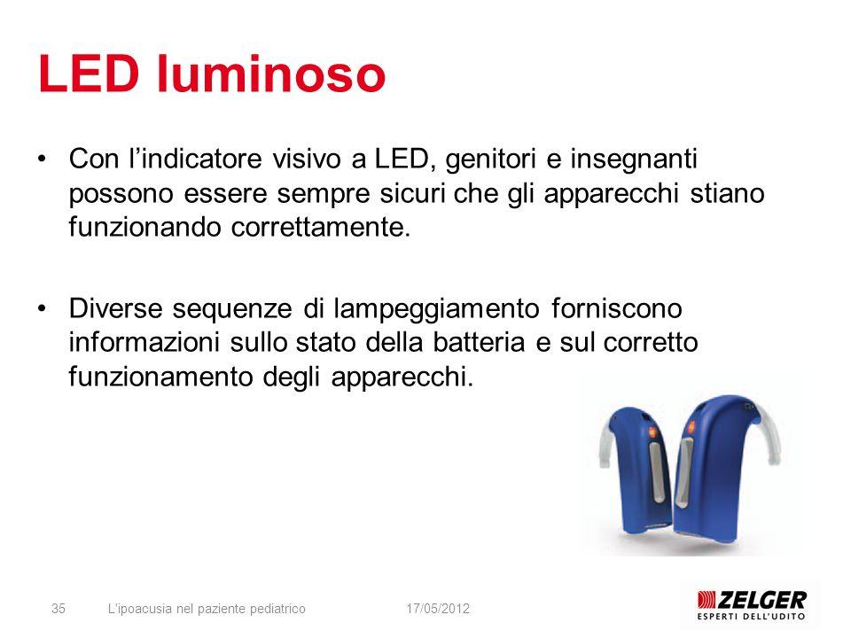 LED luminoso Con l'indicatore visivo a LED, genitori e insegnanti possono essere sempre sicuri che gli apparecchi stiano funzionando correttamente.