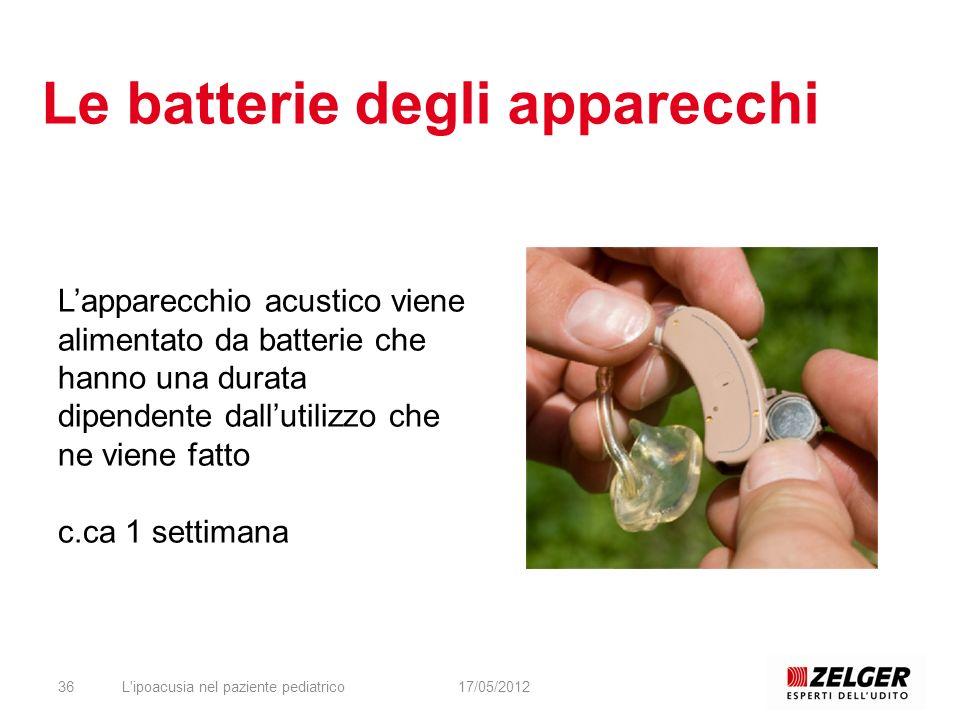 Le batterie degli apparecchi