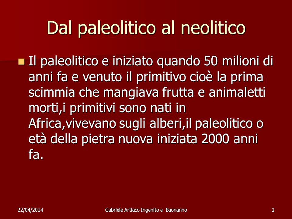 Dal paleolitico al neolitico