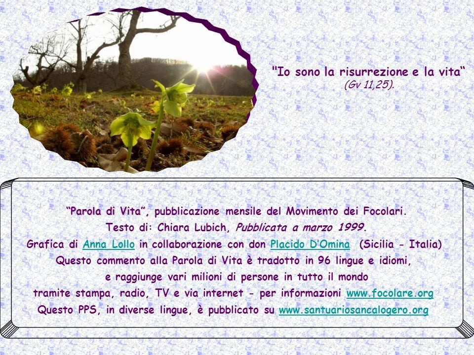 Parola di Vita , pubblicazione mensile del Movimento dei Focolari.