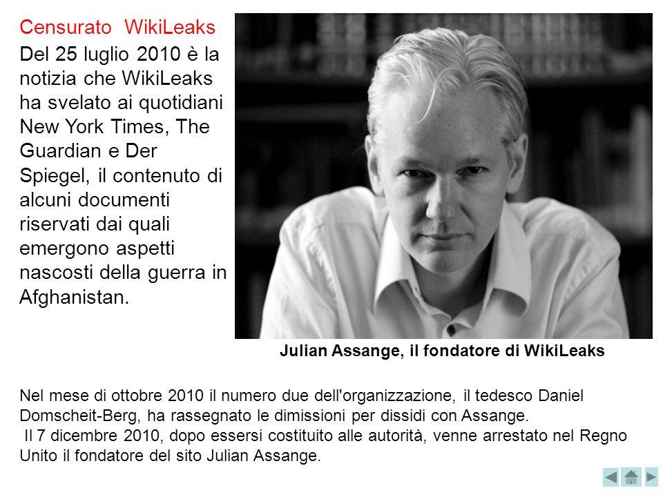 Julian Assange, il fondatore di WikiLeaks