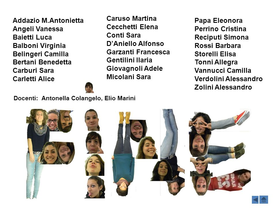 Caruso Martina Cecchetti Elena Conti Sara D'Aniello Alfonso