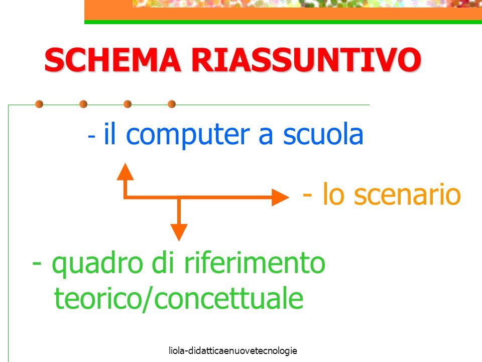 SCHEMA RIASSUNTIVO - lo scenario
