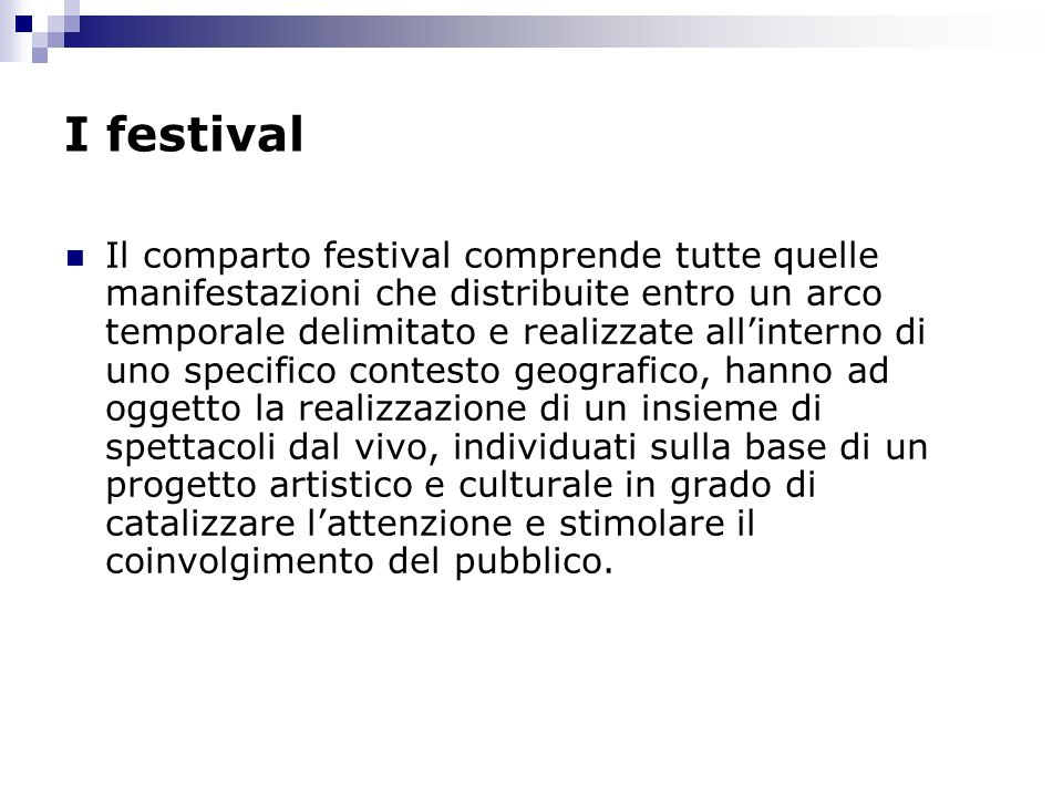 I festival