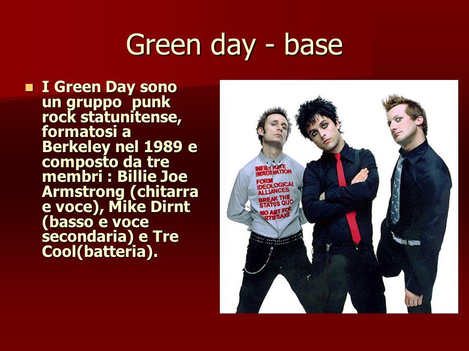 Green day - base