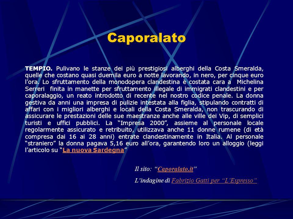Caporalato Il sito: Caporalato.it