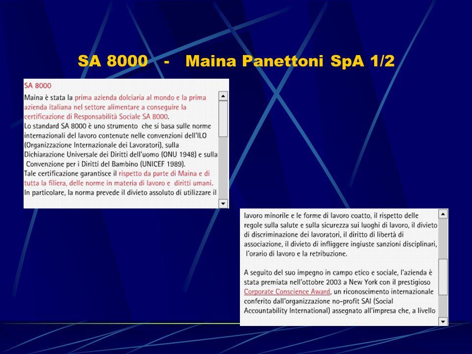 SA 8000 - Maina Panettoni SpA 1/2