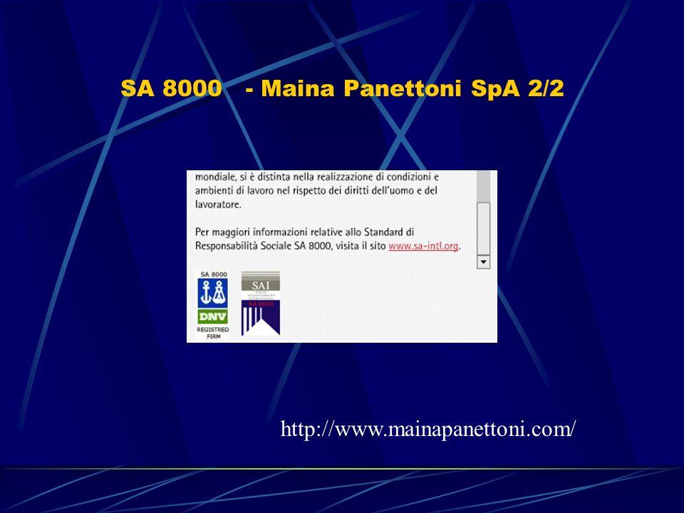 SA 8000 - Maina Panettoni SpA 2/2