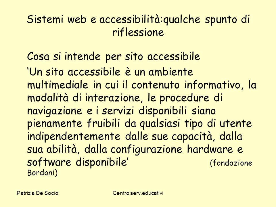 Sistemi web e accessibilità:qualche spunto di riflessione