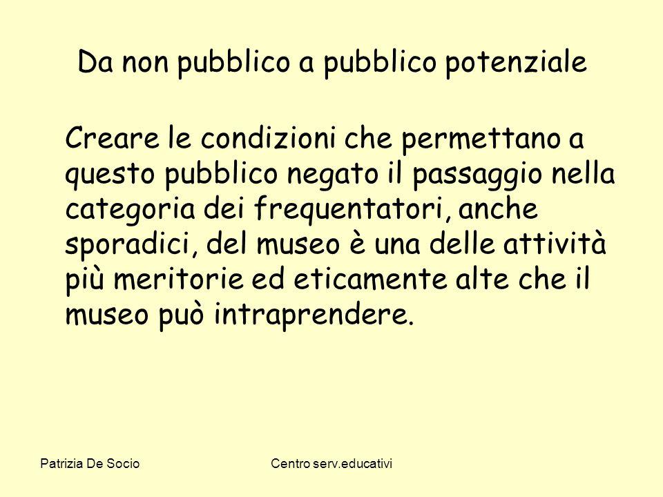 Da non pubblico a pubblico potenziale