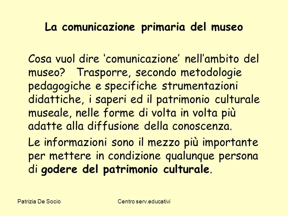La comunicazione primaria del museo
