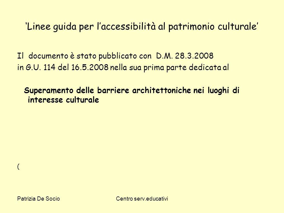 'Linee guida per l'accessibilità al patrimonio culturale'