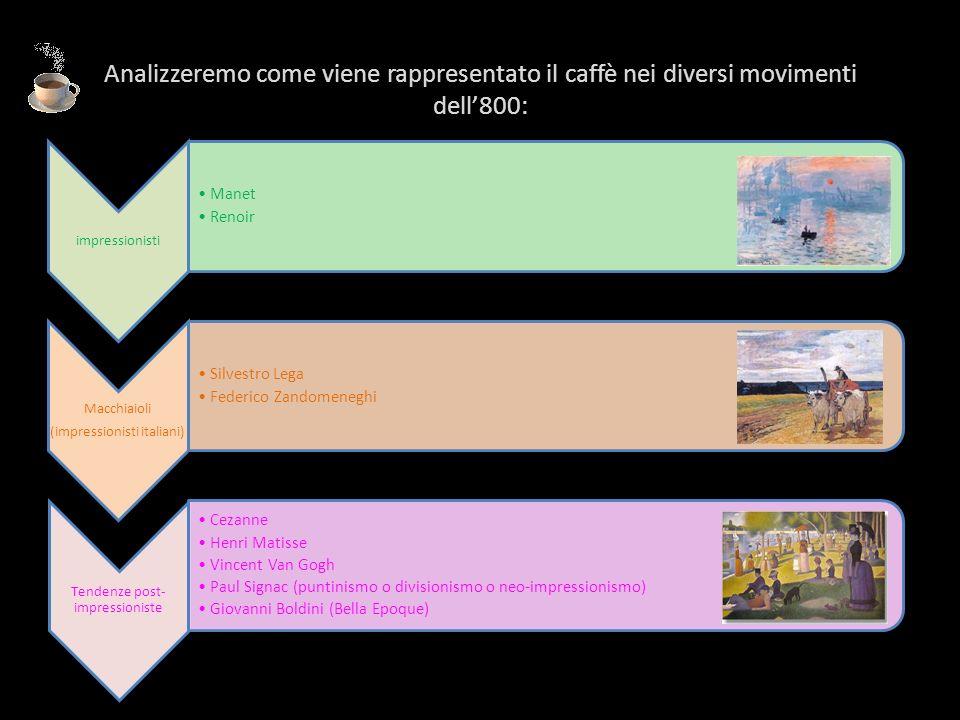 Analizzeremo come viene rappresentato il caffè nei diversi movimenti dell'800:
